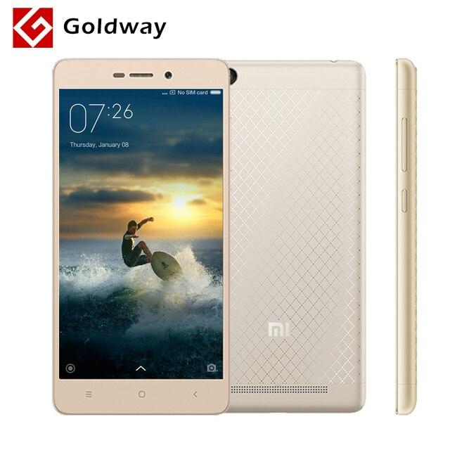 "D'origine Xiaomi Redmi 3 Snapdragon 616 Octa Noyau Mobile Téléphone 2 gb RAM 16 gb ROM 5.0 ""1280x720 Corps En Métal 4100 mah Batterie MIUI 8"