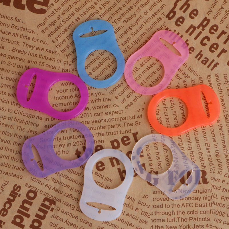 5Pcs Colorful Silicone Baby Dummy Pacifier Holder Clip Adapter For MAM Rings XDU