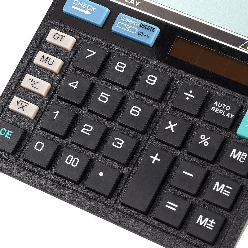 High quality New Office calculator Large computer keys 512 Solar Calculator Desktop calculator