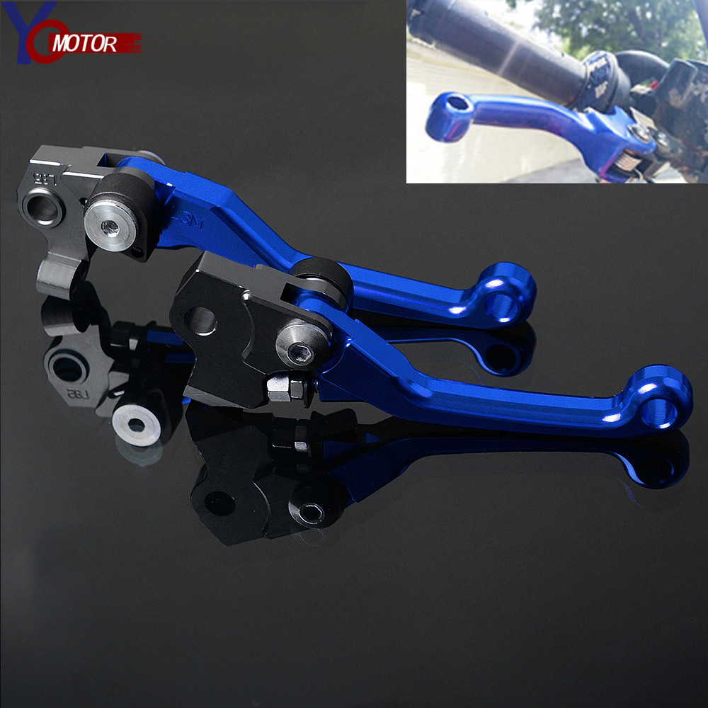 Pivot Dirt Bike Brake Clutch levers Logo For Yamaha YZ125 2001-2007 02 03 04 05