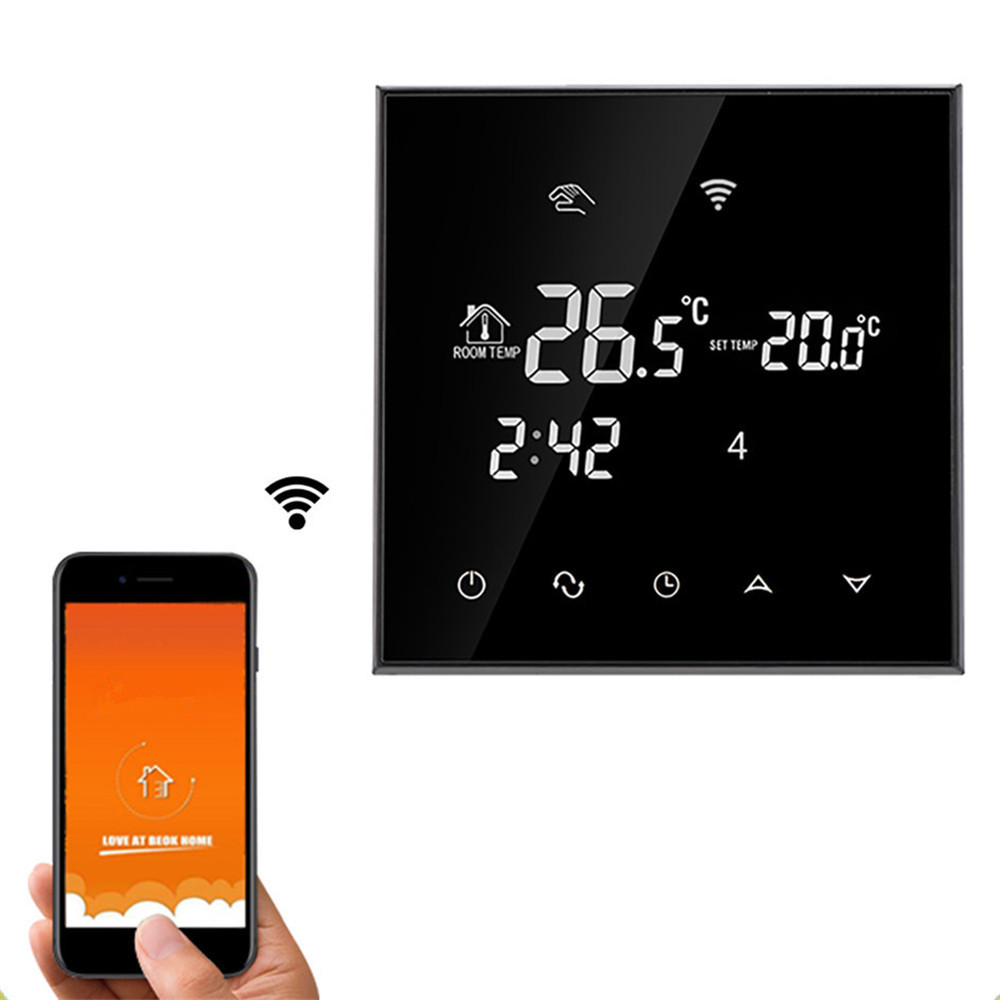 WiFi Touch Screen Room Thermostat For Electric Underfloor Heating Infrared Heater 16A Remote Control Temperature by Phone APP electric water heater thermostat temperature control switch heating tube electric heating tube heating rod for ariston