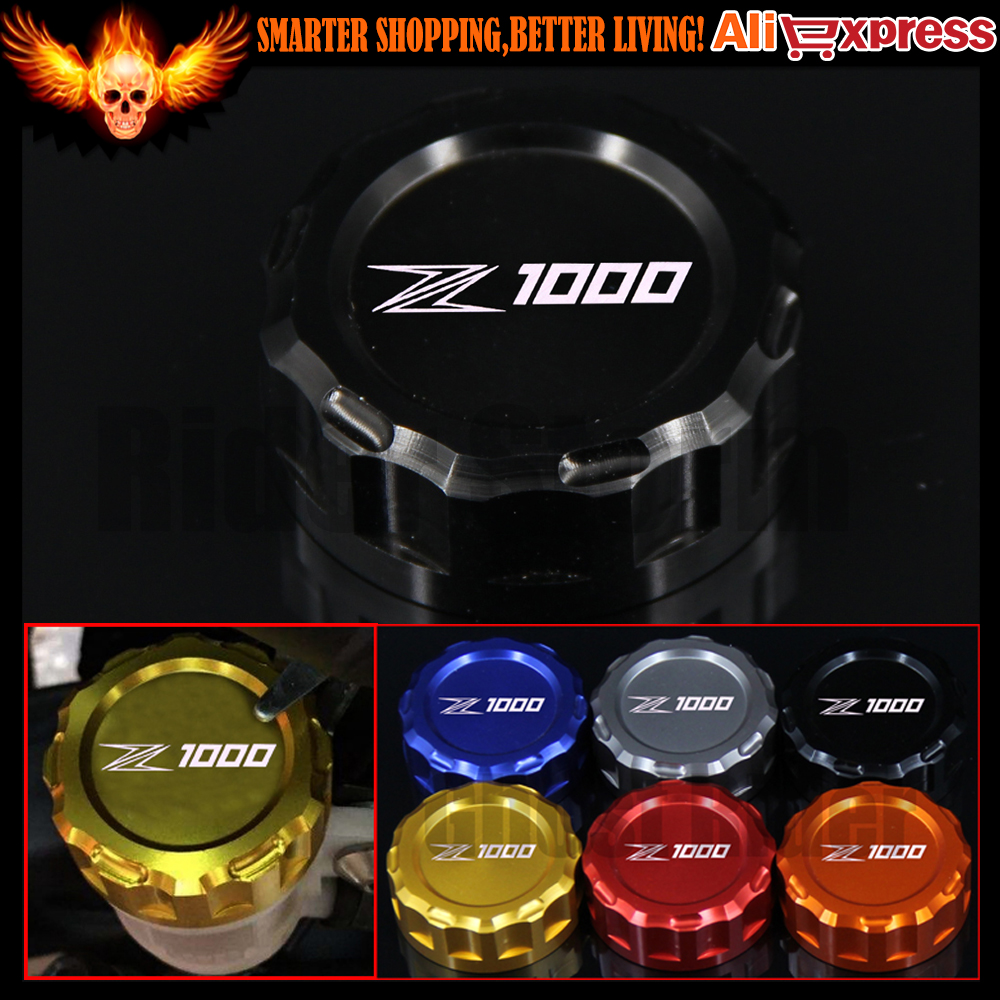 6 Colors CNC Aluminum Motorcycle Rear Brake Reservoir Cover Cap For Kawasaki Z1000 2007-UP 2010 2011 2012 2013 2014 2015 2016 motorcycle radiator protective cover grill guard grille protector for kawasaki z1000sx ninja 1000 2011 2012 2013 2014 2015 2016