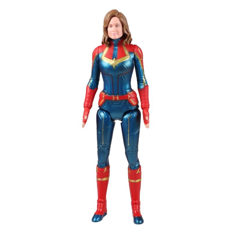 30 см Marvel Мстители игрушки танос Халк Бастер человек паук Железный человек Капитан Америка Тор Росомаха Черная пантера фигурка куклы - Цвет: Captain B no box