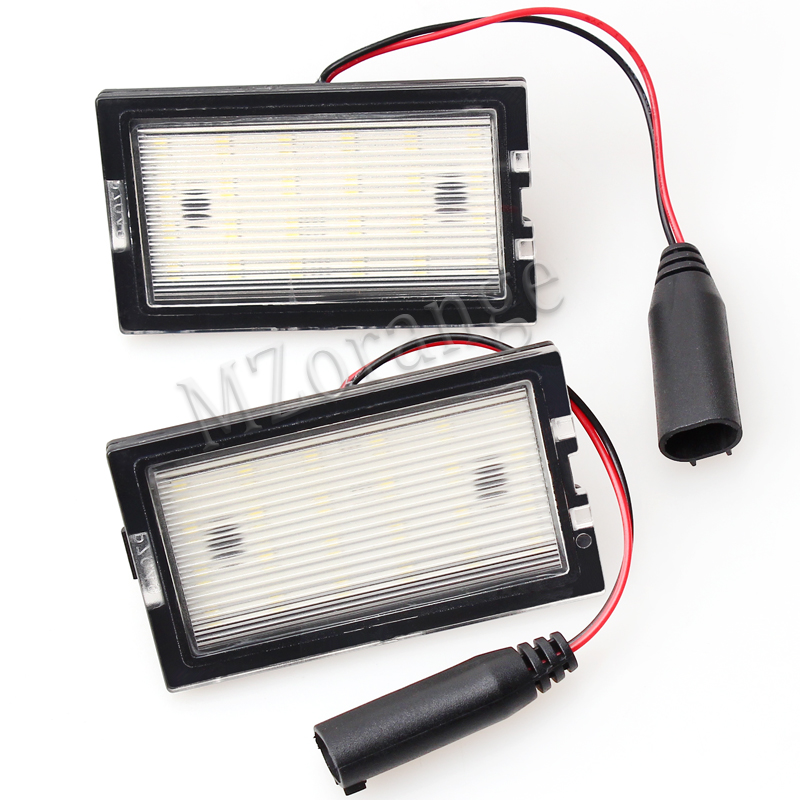 MZORANGE 1 Pair No error LED number plate light for Land Rover Freelander 2 Land Rover Range Rover Sport Disovery High Quality 2pcs led w5w t10 canbus no error car parking bulbs light for land rover v8 discovery 4 2 3 x8 freelander 2 defender a8 a9