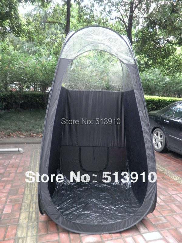 Black/pink color Spray Tanning tent with PVC roof/top quality pop up spray tanning tent have direct factory accept OEM order yp100120 100x120cm 100x240cm 100x360cm prefab homes roof top tent polycarbonate sheet plastic shed overehead doorawning