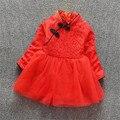 Envío rápido de la Alta Calidad de Los Niños Ropa 2016 Niñas Bebé de La Manera Ropa del Cabrito Del Vestido Chino Cheongsam vestidos de Otoño y primavera