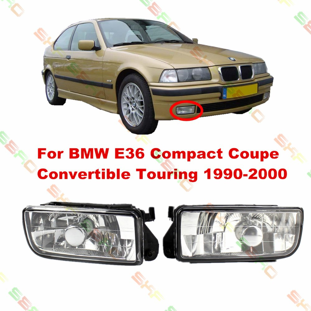 For BMW E36 Compact Coupe Convertible Touring 1990-2000  car styling fog lights FOG LAMPS  1 SET  Crystal glass bmw m3 e30 coupe
