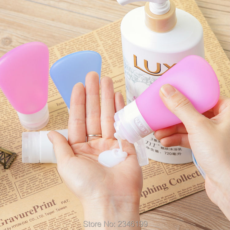 S/M/L 3pcs/set Pink Plastic Jar With Flip-off Cap Travel Essential Goods Shampoo Body Lotion Container Cosmetic Packing Bottle 200pcs x 200g big frosted abs plastic cosmetic packaging bath salt jar with wooden spoon