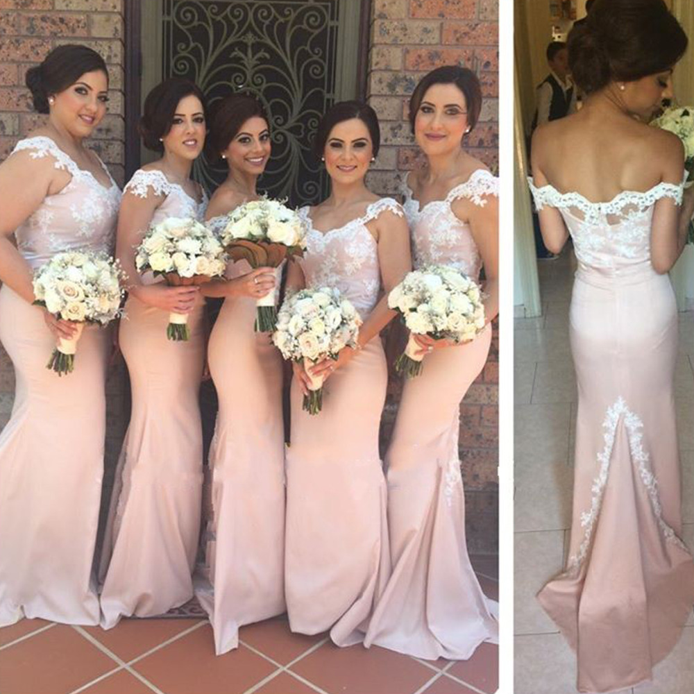 Online buy wholesale fast shipping bridesmaid dresses from china vestidos de festa v neck mermaid pink satin long bridesmaid dresses 2017 fast shipping dress ombrellifo Image collections
