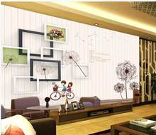 Modern Custom 3D Wallpaper Dandelion background wall Personality Wall Mural Wallpaper Painting Wallpapers Mural For Living Room(China)
