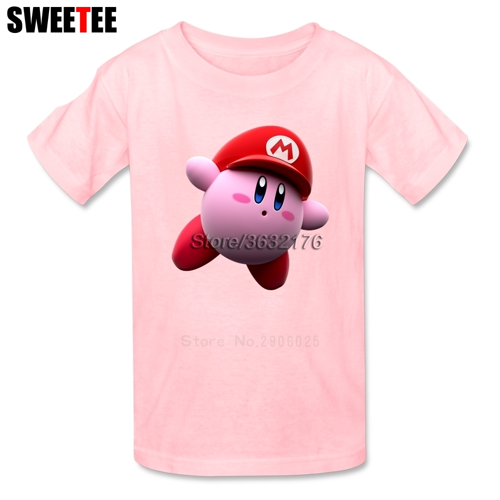 Kirby boys girls T Shirt Pure Cotton Short Sleeve Crew Neck Tshirt children Clothes 2018 High Quality T-shirt For baby