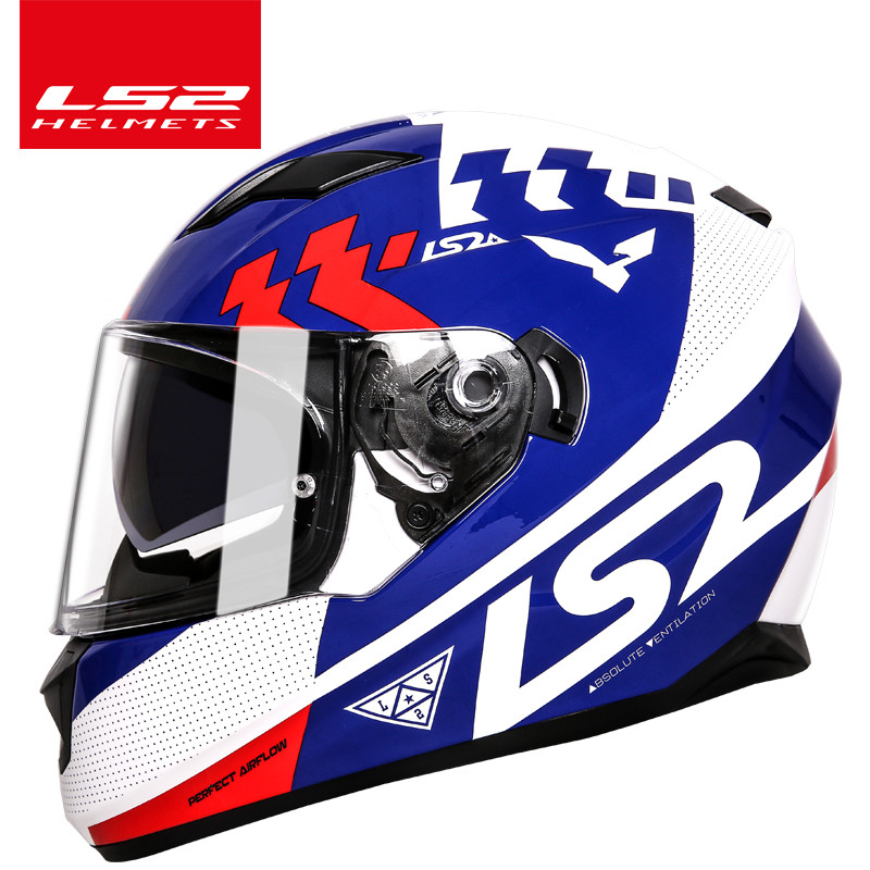 LS2 ff328 moto rcycle capacete com viseira de sol interior lente dupla de moto capacete integral capacete casque sem airbag moto capacete