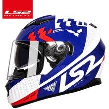 LS2 ff328 motorcycle font b helmet b font with inner sun visor dual lens moto font
