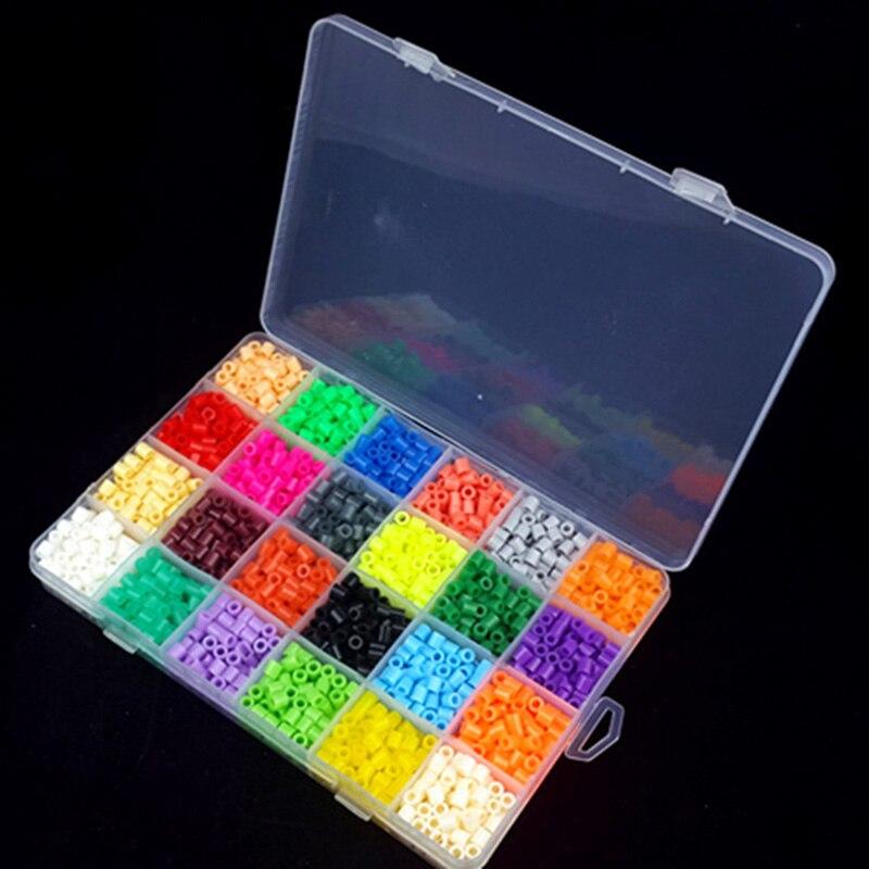 2400Pcs 24 Color Hama Beads 5MM Perler Beads DIY Creative Pus
