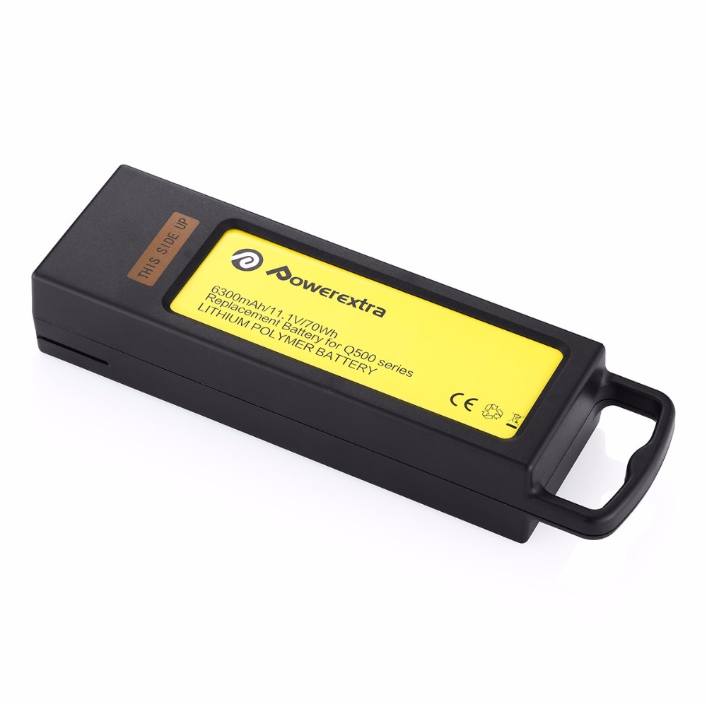 Powerextra 11.1V 6300mAh 3S LiPo Battery for Yuneec Typhoon Q500+ Q500 4K Typhoon G for GoPro RC Quadcopter Multicopter