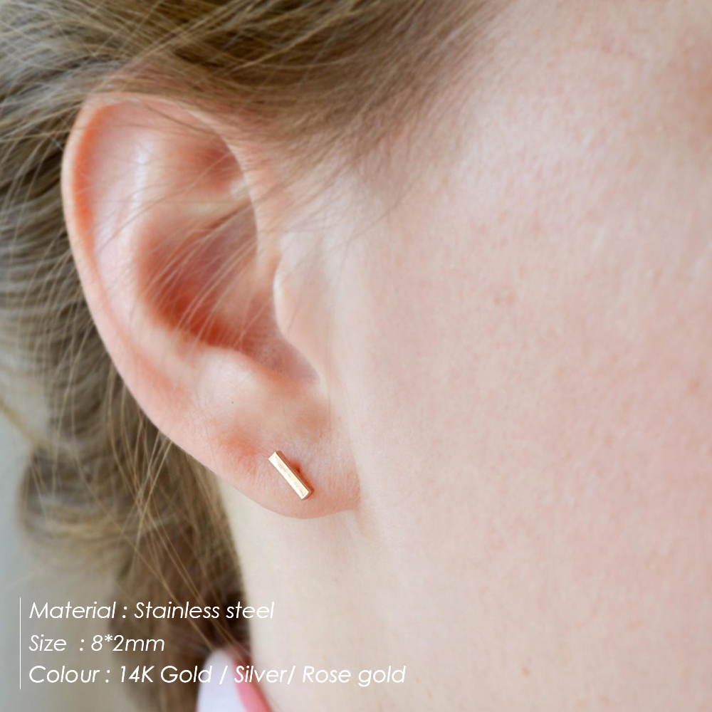 e-Manco korean style women stud earrings for women small stainless steel earrings set earings fashion jewelry