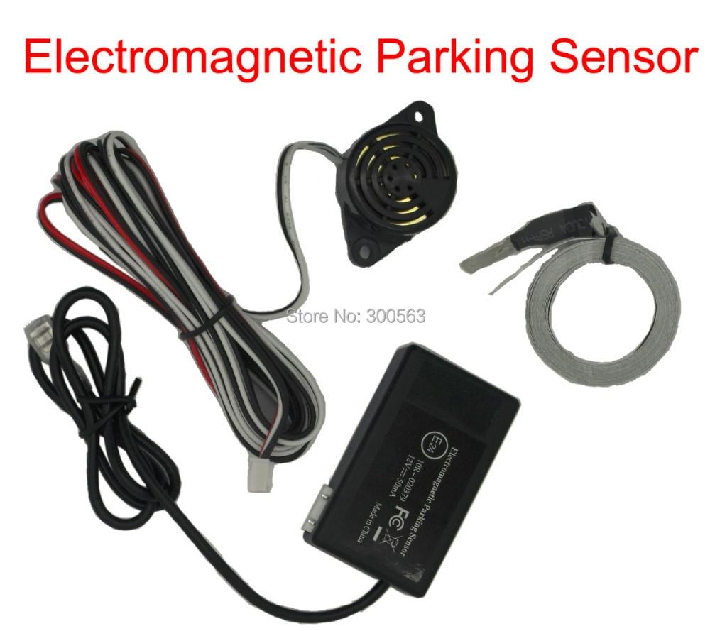 Free shipping Electromagnetic parking sensor,no drill hole,Car Reverse Backup Rada Sensors,Backup Radar System,with big antenna
