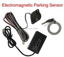 Free shipping Electromagnetic parking sensor no drill hole Car Reverse Backup Rada Sensors Backup Radar System