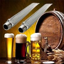 Portátil de 30 cm de Acero Inoxidable Tubo de Filtro de Cartucho de Filtro de Vino elaborado Cerveza Sacarificación Cerveza Homebrew Puré Herramienta Útil