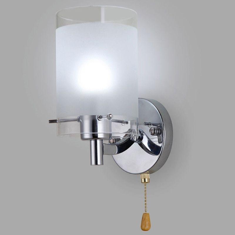 1 Set AC85-265V E27 LED Wall Light Modern Glass Decorative Lighting Sconce Fixture Lamp
