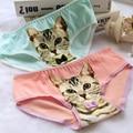 2016 Fashion Underwear Women Hot Sale Cotton Panties 3D Printed Cat Briefs Underwear for Gift Lingerie Intimates