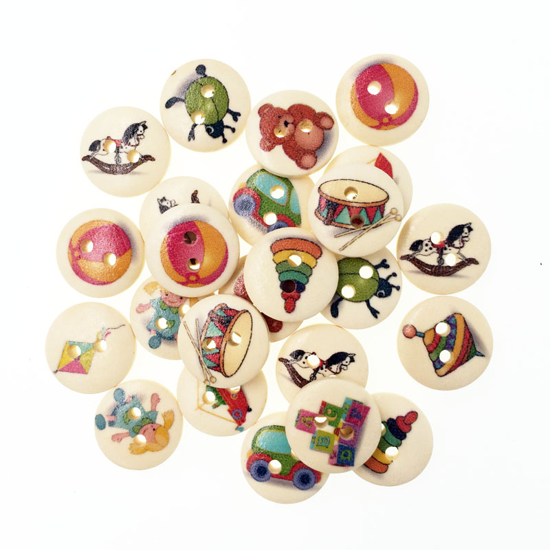 100pcs popular bulk mixed mixed wooden button kids for Decorative pins for crafts