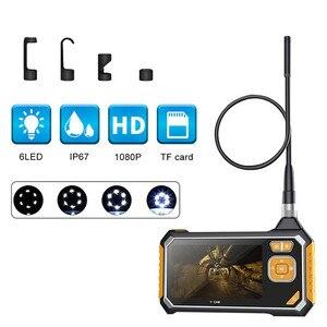 Image 1 - 4.3 inch 6LED 8mm Endoscope 1080P Inspection Camera Borescope 18650 Battery Industrial Snake Hard Handheld Endoscope