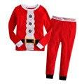 Miúdos do natal costume super hero capitão américa spiderman batman cosplay carton pijamas set homewear inverno para crianças menino