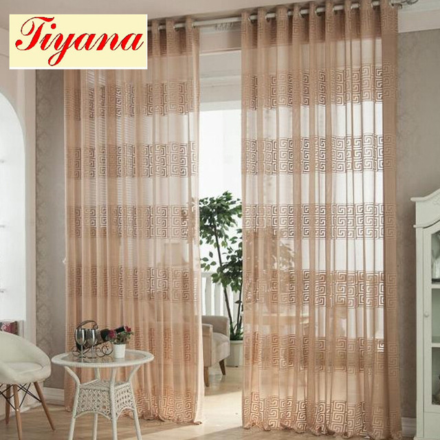 Fresh Elegant Curtain Voile Sheer Curtain Tulle Curtain for Living ...