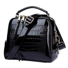 2018 Neue frauen Messenger Taschen Patent Leder Handtaschen Für Damen Mode Schulter Taschen Umhängetaschen Für weibliche bolsa AWM105