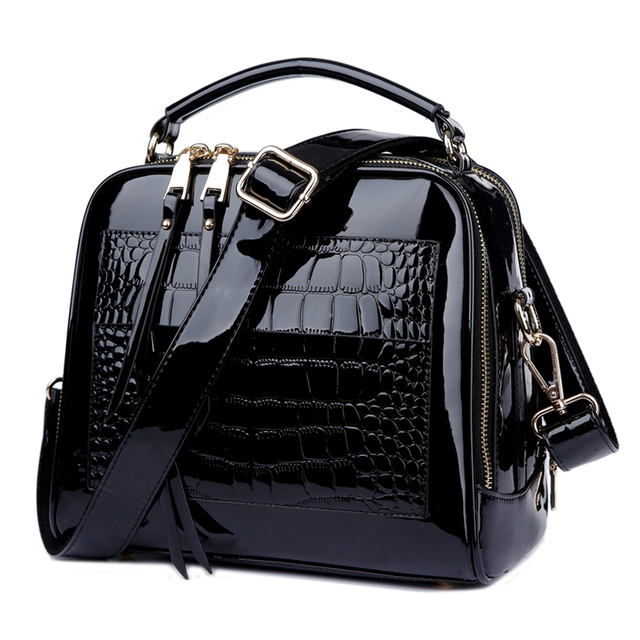 2018 New Womens Messenger Bags Patent Leather Handbags For Ladies Fashion Shoulder Bags Crossbody Bags For female bolsa  AWM105