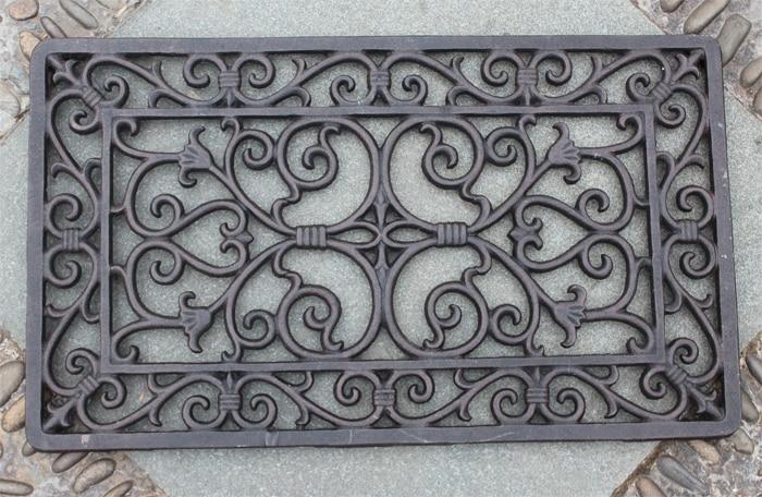 Decorative Wrought Iron Scroll Door Mat Outdoor Door Mat