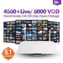 Leadcool Android 8,1 1G8G приставка под ТВ подписка 4500 канал 8000 VOD французский арабский итальянский Испания Канада Бразилия ТВ коробка
