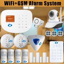 Etiger WIFI de Casa Inteligente/Interder GSM Seguridad Para el Hogar Sistema de Alarma Antirrobo Sirena Interior WIFI cámara IP