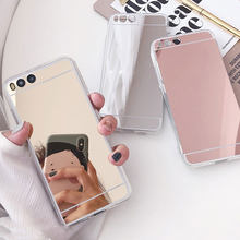 Luxury Silicone Mirror Case For Huawei P8 P9 P10 Lite Honor 4X 5A 5X 6A 6X 7 7X 8 9 Mate 7 8 9 10 Lite Nova 2i Plus Back Cover(China)