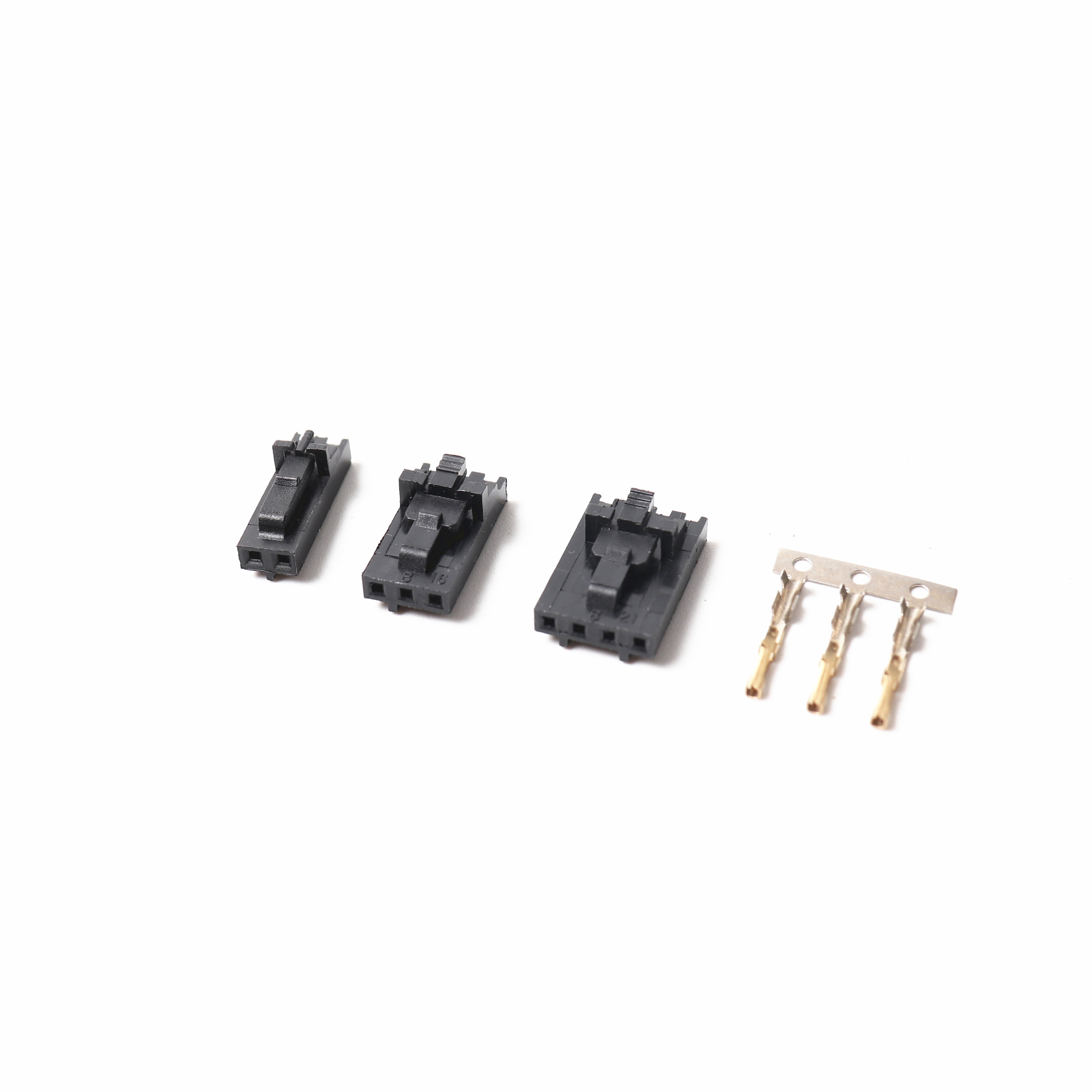 2.54mm 1x2/1x3/1x4 Connector & Positive Latch Housing Kit- 10 Pack For Mini-rambo/Einsy Rambo Boards And Prusa I3 Mk2s/mk3
