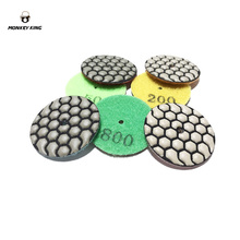 3 units/lot  2 inch 50mm dry polishing pad for stone concrete grit 50 100 200 400 800 1500 3000