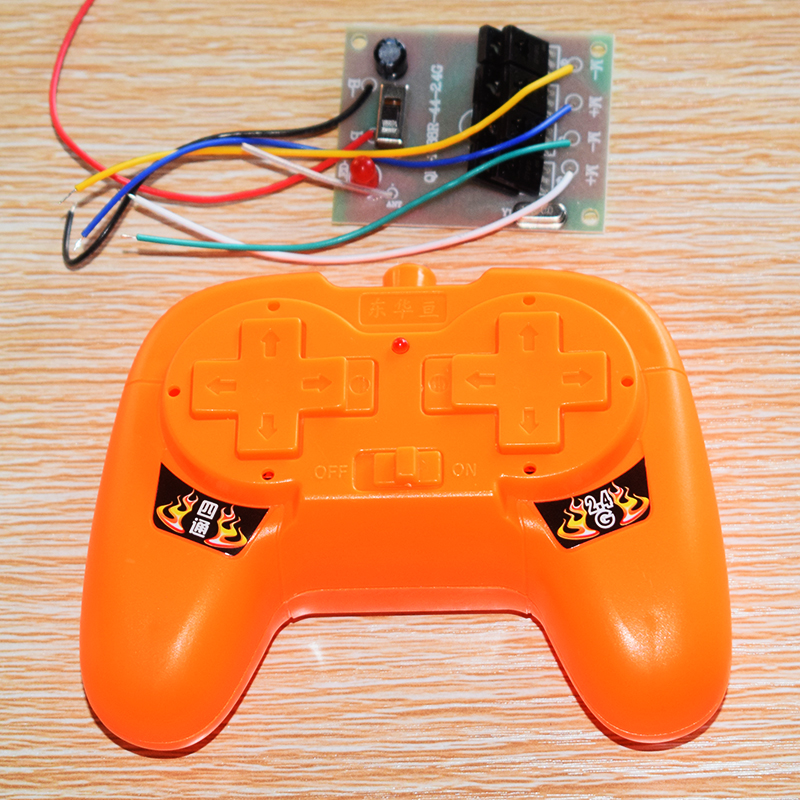 2.4G 4 channel remote control with <font><b>receive</b></font> <font><b>board</b></font>/<font><b>rc</b></font> <font><b>car</b></font> robot DIY toy accessories technology model parts/baby toys for children image