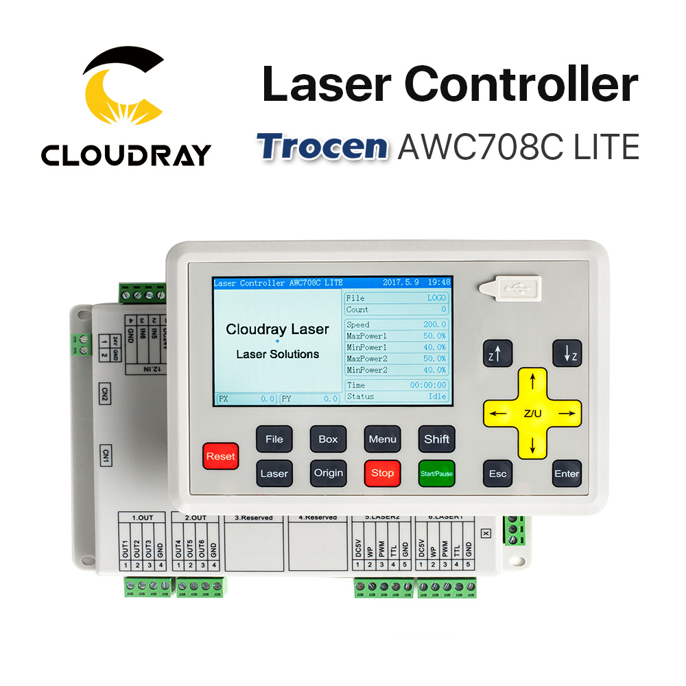 Cloudray Trocen Anywells AWC708C LITE Co2 Laser Controller System for Laser Engraving and Cutting Machine Replace