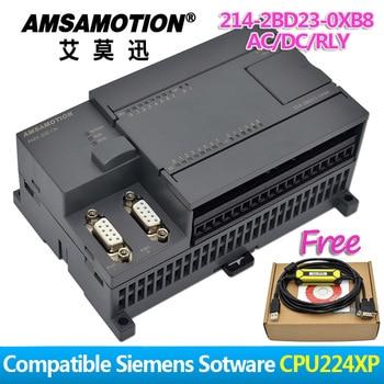 цена на Promotion!!! Amsamotion PLC S7-200CN CPU224XP 14I/10O 2AI 1AO AC/DC/RLY 6ES7 214-2BD23-0XB8 With PPI Cable Free