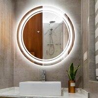 50 70 см серебристый светодиодный зеркало для макияжа с подсветкой светильник IP54 водостойкий ванная светодиодная зеркальная лампа светодиод