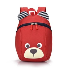 Lovely Bear Toddler Anti Lost Backpack Cartoon Antilost Link Children Schoolbag Walking Strap Leashes Baby bag