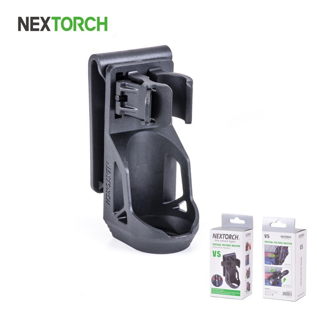 NEXTORCH V5 360 Degree Angle Rotatable Tactical Flashlight Duable Holster
