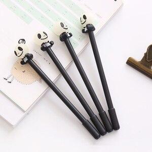 Image 2 - 24 יח\חבילה רעות מצחיקות עט עם הניצוץ אור 0.5mm כדורי שחור צבע עטי מתנת Kawaii מכתבים ציוד לבית ספר FB862