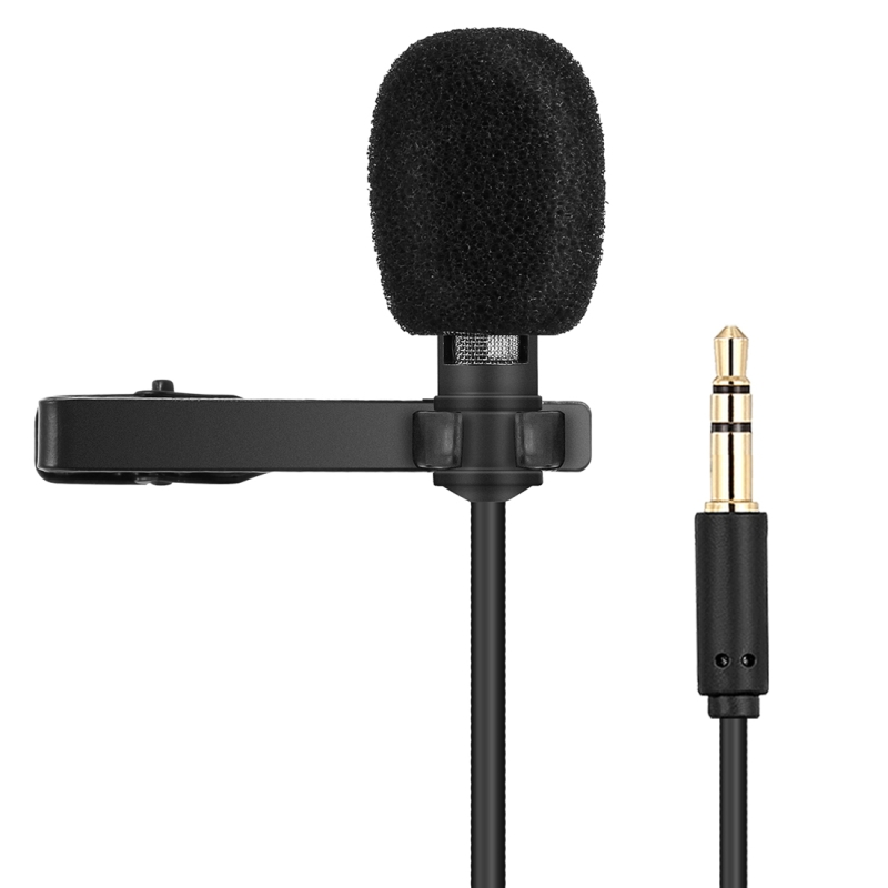 HAWEEL Clip-on Lapel Mic Lavalier Omni-directional Double Condenser Microphone