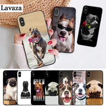 Lavaza Pit Bull Lovely Pet Dog Pitbull Silicone Case for iPhone 5 5S 6 6S Plus 7 8 11 Pro X XS Max XR