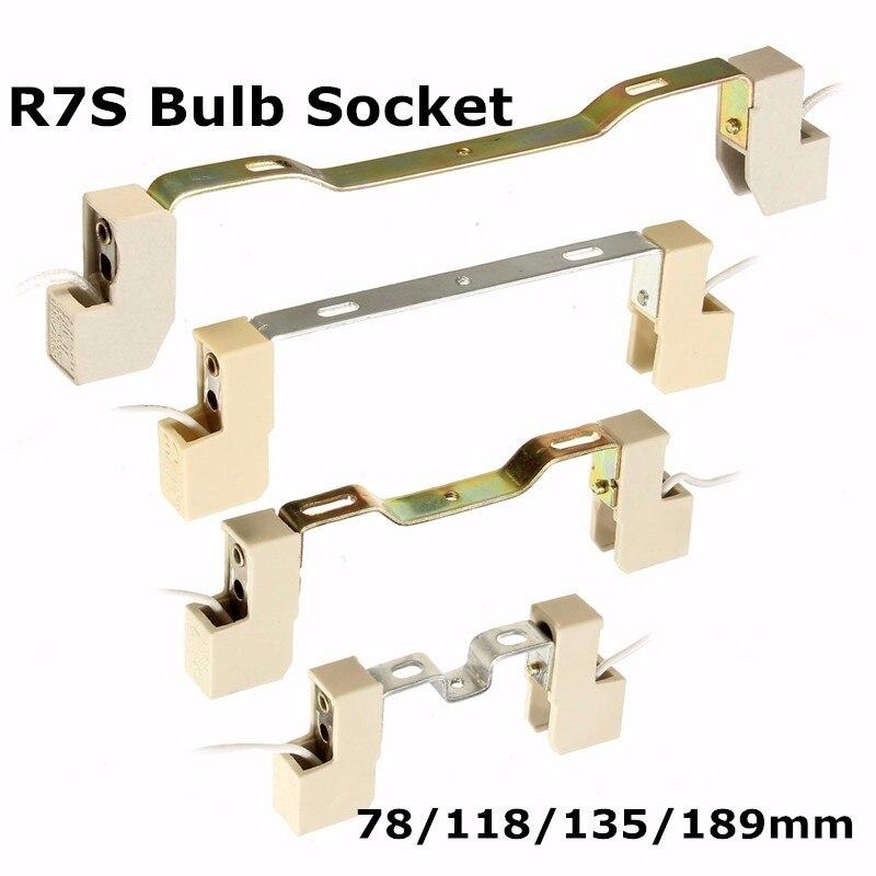 R7S основание светильника гнездо держатель лампы Conveter разъем металлической ручкой для потока свет лампы 78/118/135/ 189 мм Высокое качество ...