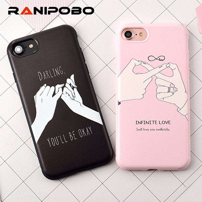 Valentine's Gift Mobile Phone Cases For iPhone 7 7Plus For iPhone 6 6S Plus Infinite Love Couples Anti Shock Cover for iPhone7