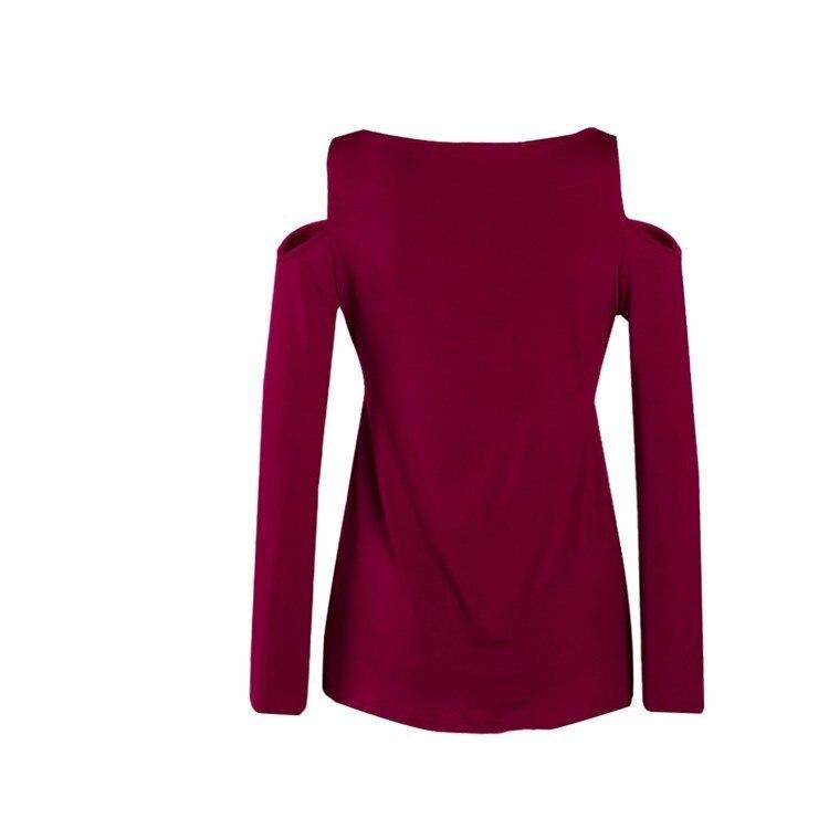 HTB1ej5YPpXXXXXhXFXXq6xXFXXXn - Women Spring Long Sleeve Off Shoulder V-neck T Shirt