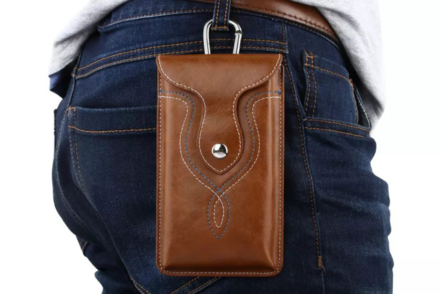 Man Belt Clip Outdoor Pouch Mobile Phone Leather Case Bags For LG Class H740 K7,X screen,Wiko Selfy 4G Pulp 4G,ZTE Blade L5 Plus